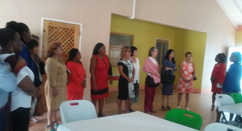 Wives of diplomats tour Kingston Centre