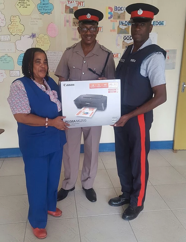 Police donate printer to Morant Bay Outreach Centre