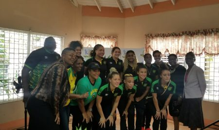 Reggae Girlz visit the Kingston Centre